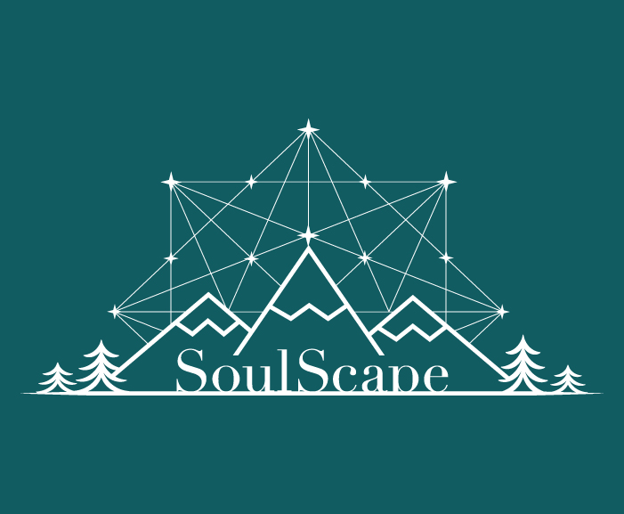 SoulScape mark with mountains and constillations