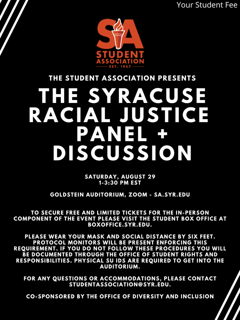 The Student Association Presents The Syracuse Racial Justice Panel + Discussion