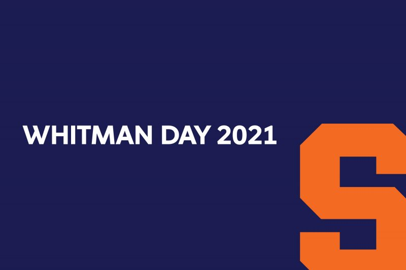 Whitman Day 2021 Banner image