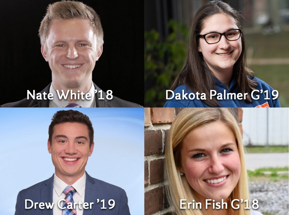 Drew Carter, Erin Fish, Nate White and Dakota Palmer