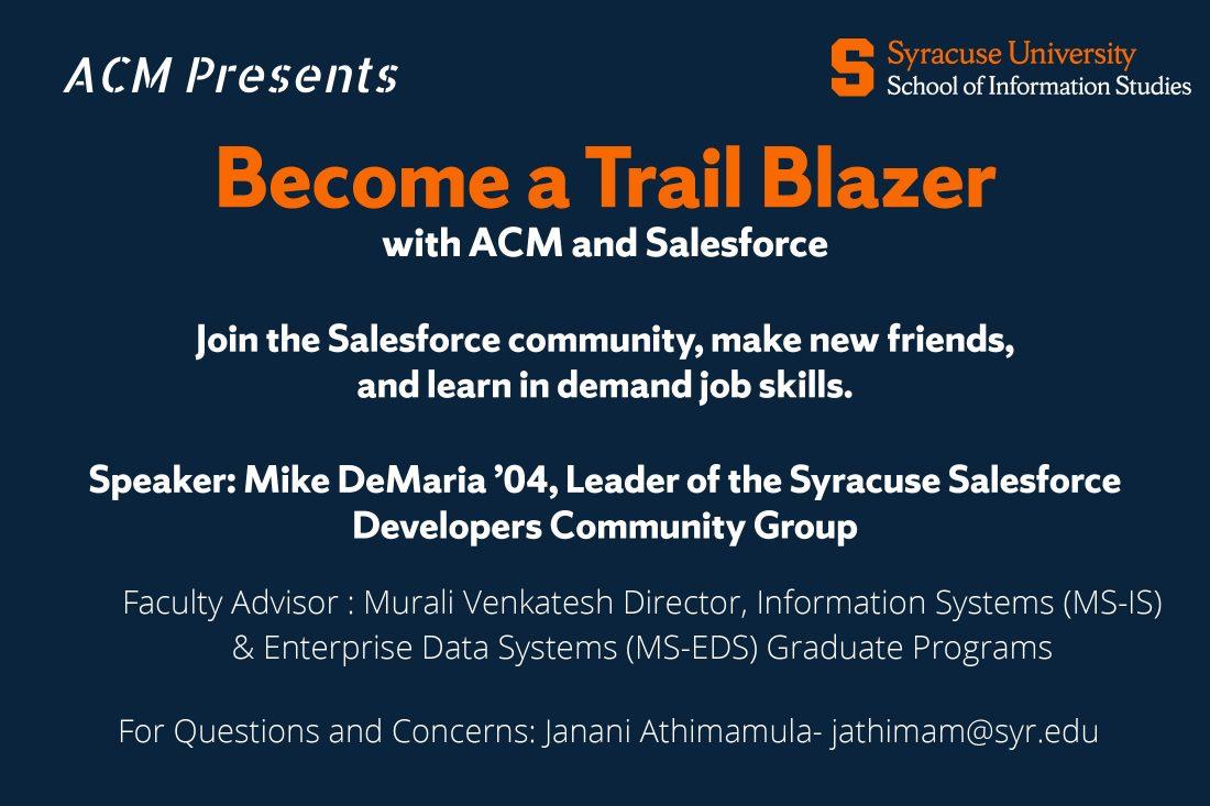ACM Salesforce Trail Blazer event