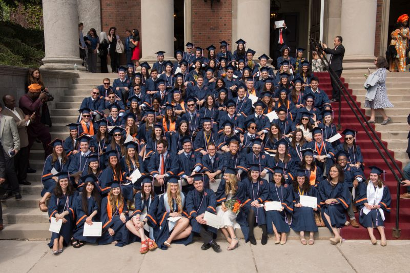 School of Architecture graduates gathered outside of Hendricks Chapel following convocation