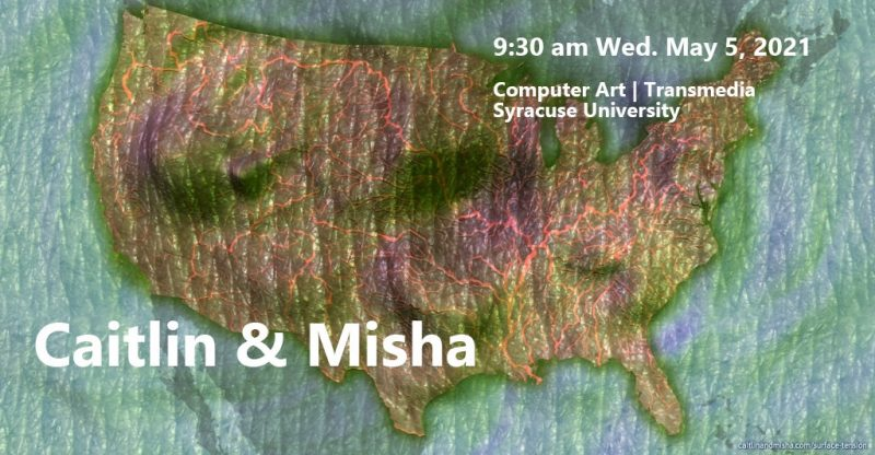 A map of the united states made from fabric