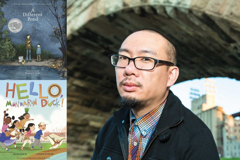 bao phi and two of his book covers a different pond and hello mandarin duck