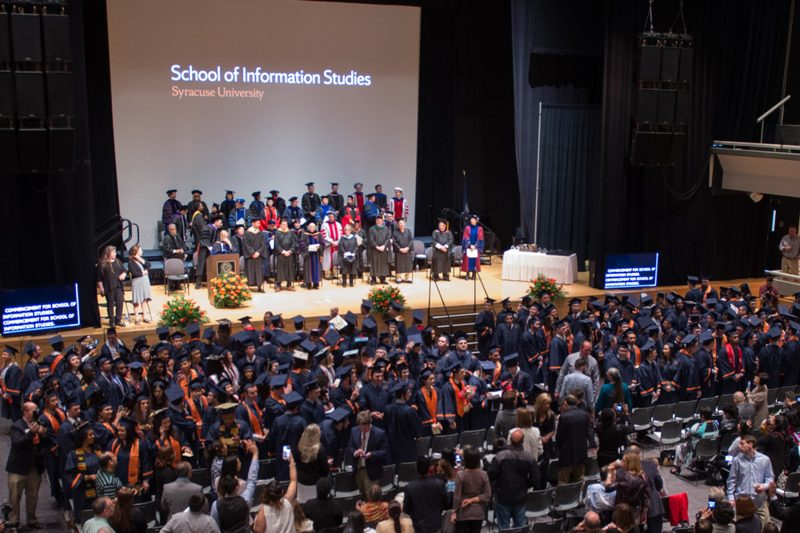 Students at iSchool graduate convocation