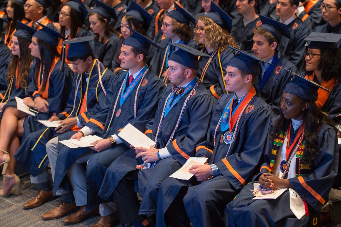 Graduates at the iSchool convocation ceremony