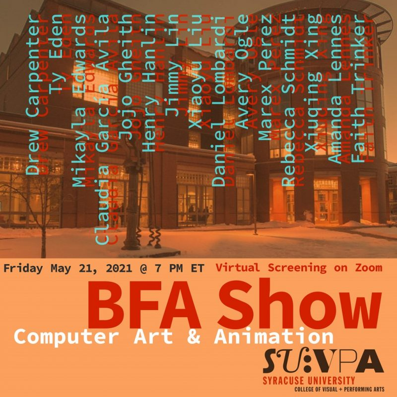BFA Show for Computer Art and Animation