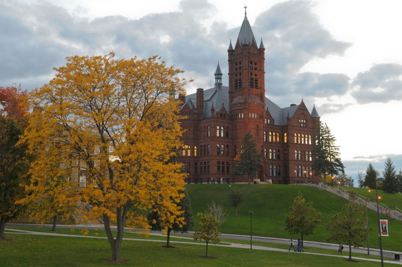 Crouse college in the fall.