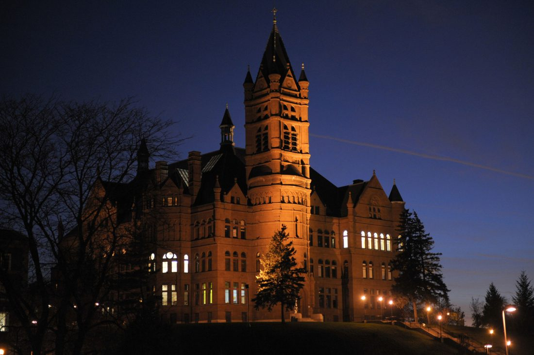 Crouse at night.