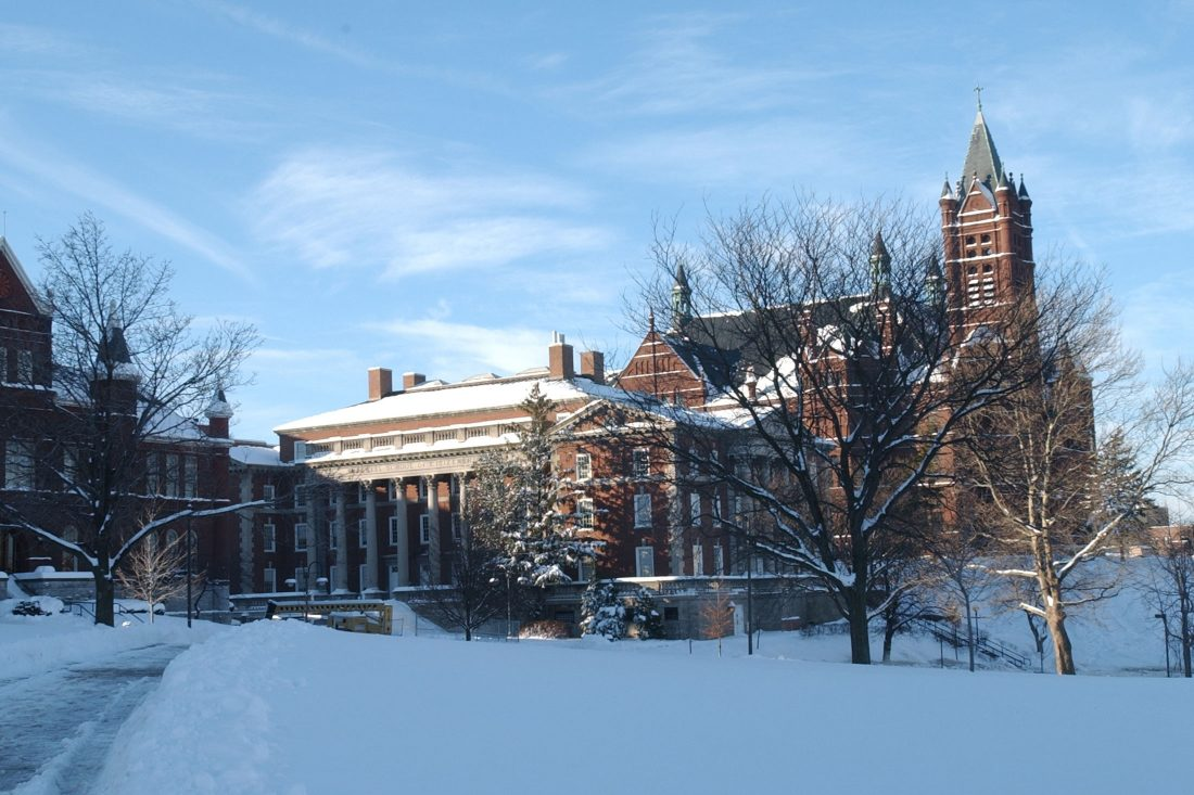 Crouse in winter, day.