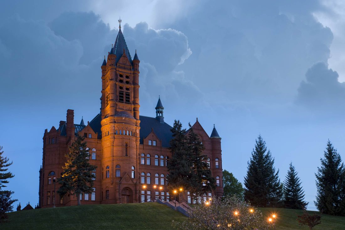 Crouse in spring at dusk.