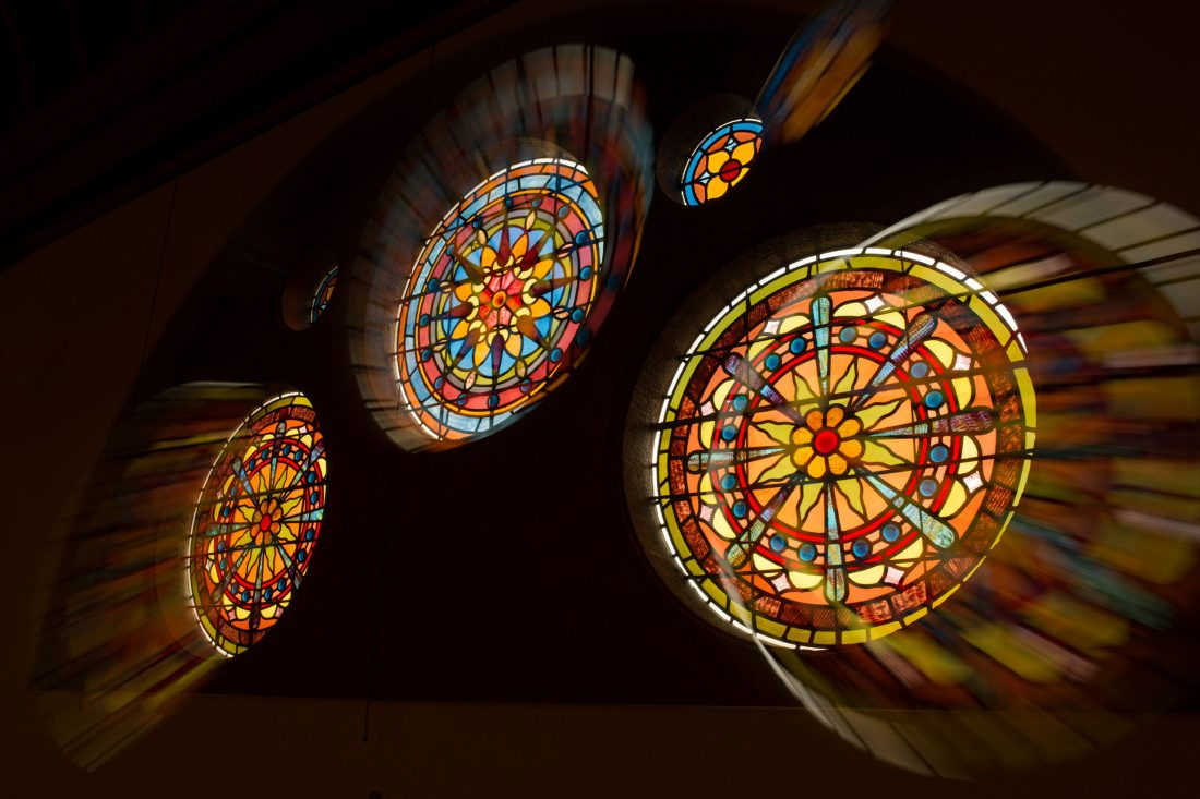Crouse stained glass windows.