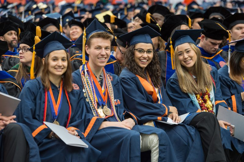 new graduates at Syracuse University Commencement