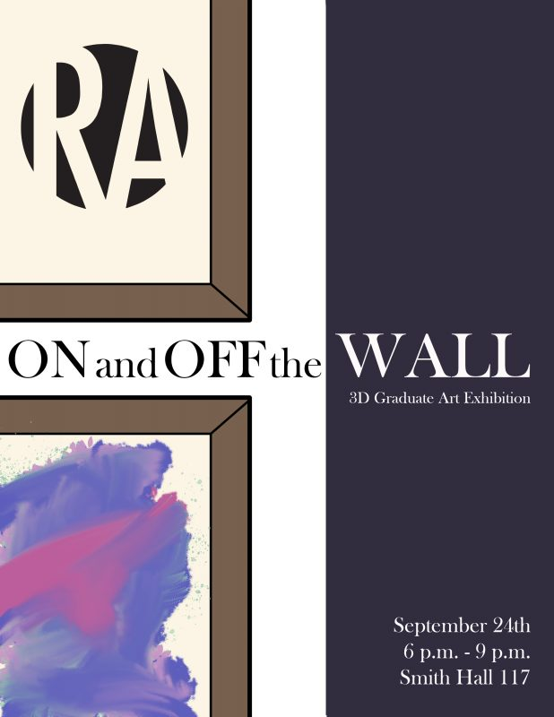 On and off the wall poster