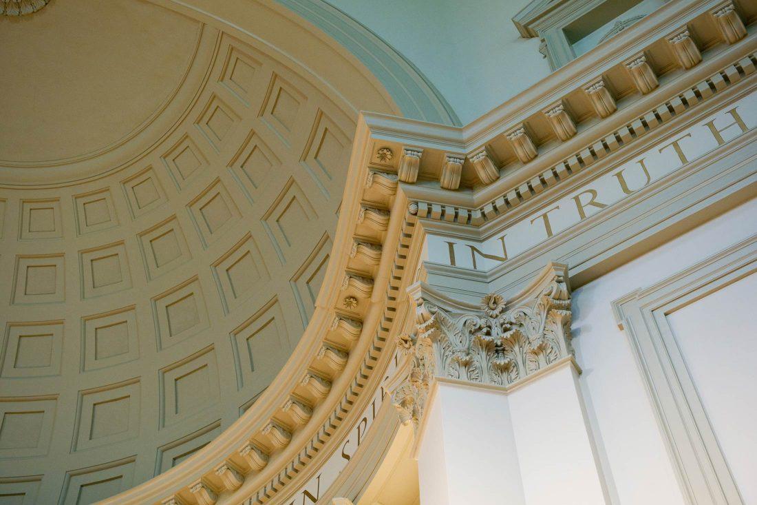 Ceiling of Hendricks Chapel