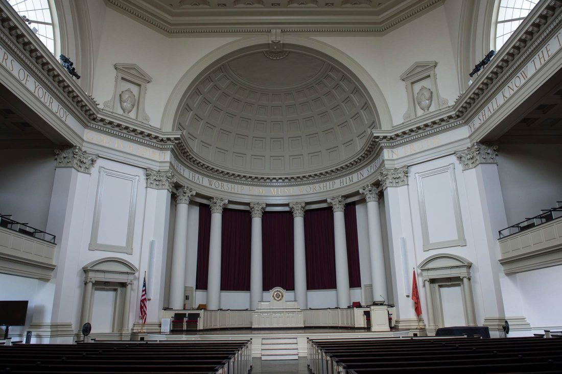 Hendricks Chapel interior