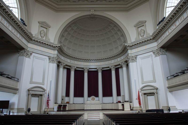 Hendricks Chapel interior