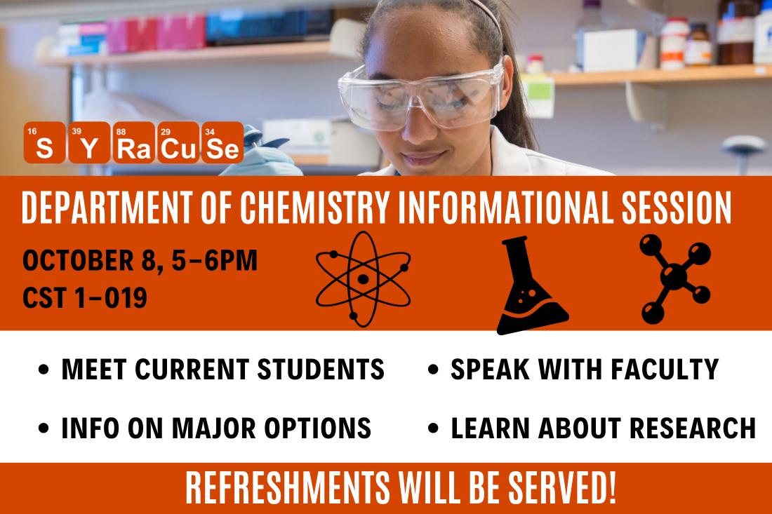 Chemistry Information Session Details