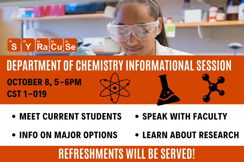Chemistry Information Session Details