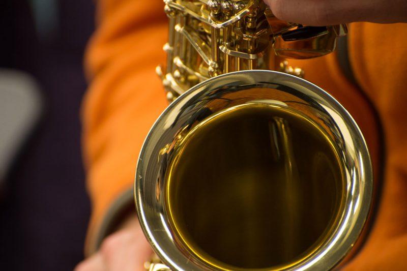 Saxophone closeup.