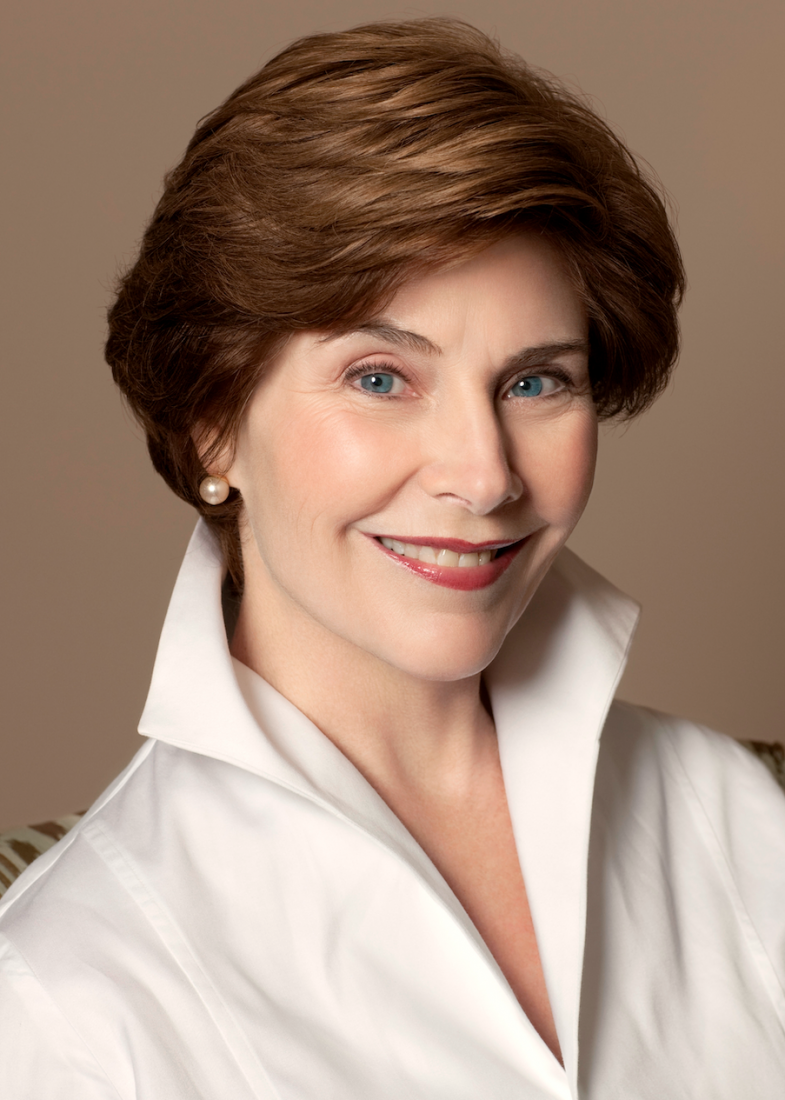 Portrait of Laura Bush.
