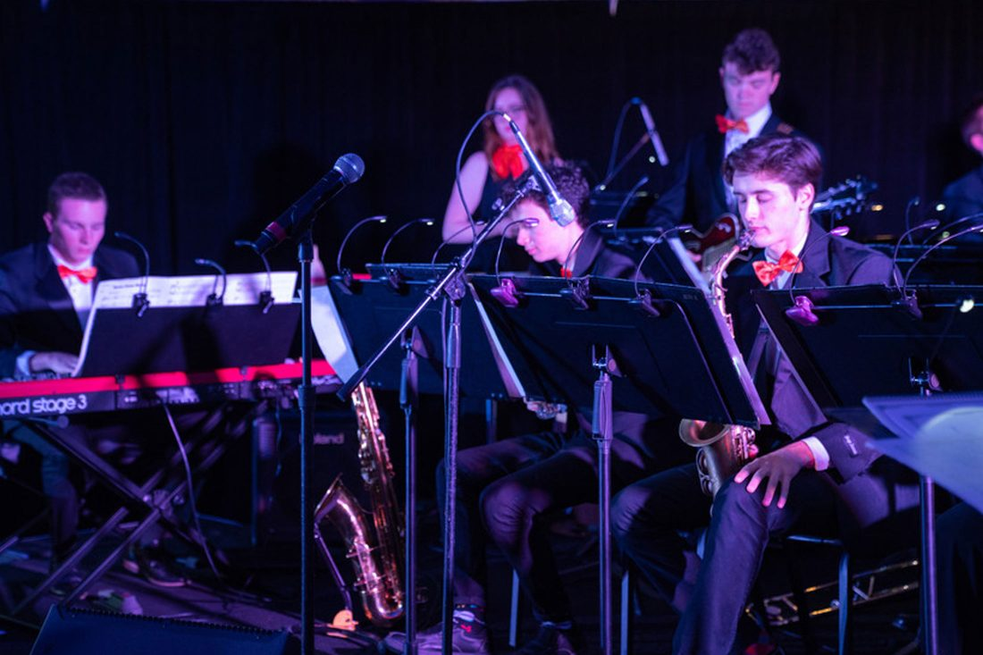 Jazz students perform.