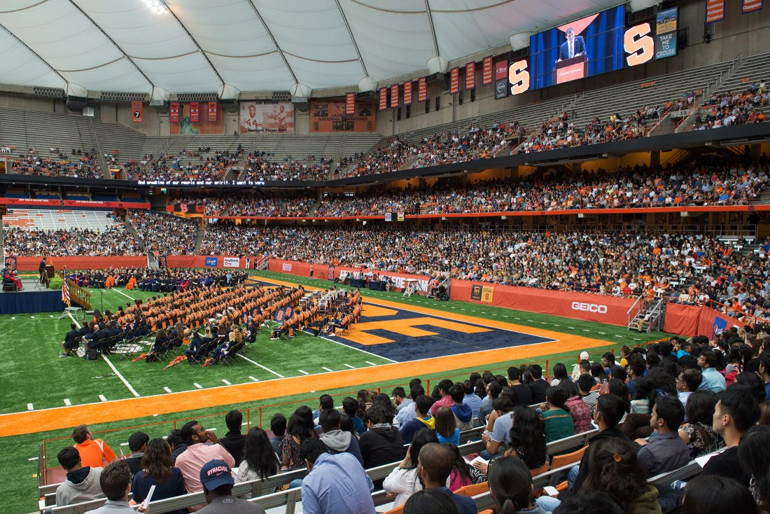 New students, parents, and families attend Convocation in the Dome
