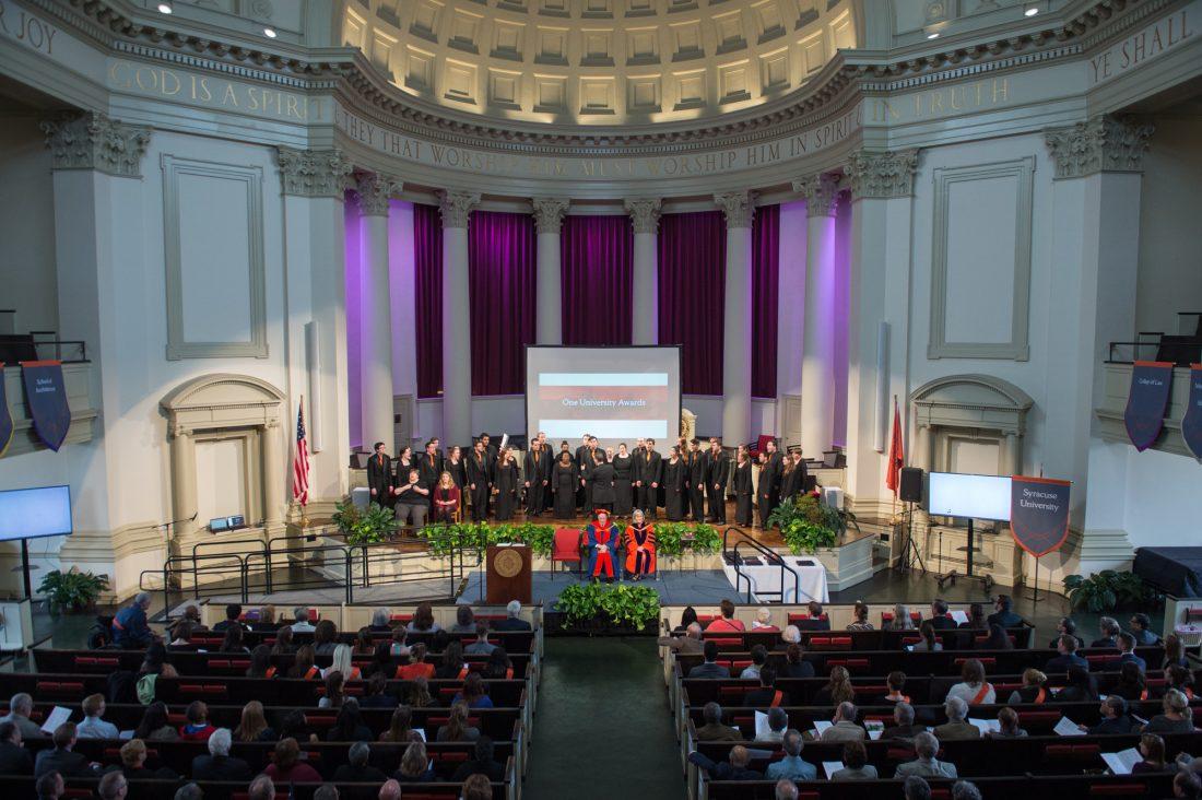 Hendricks Chapel during the One University Awards