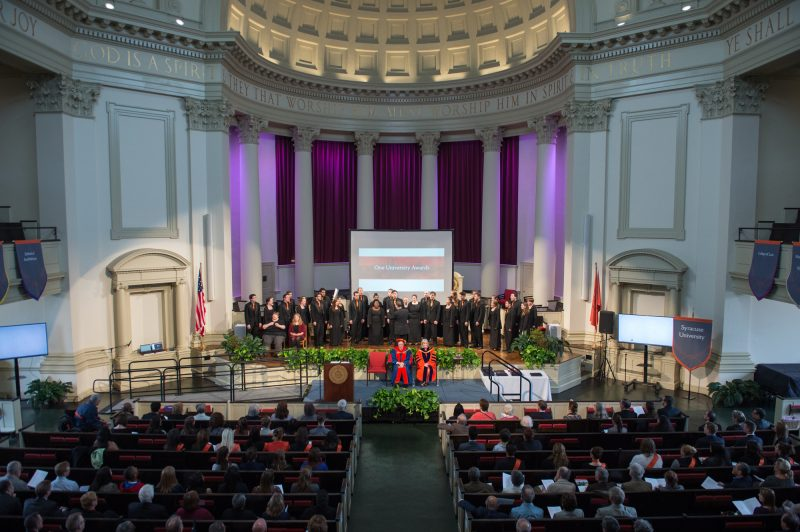 Hendricks Chapel during the One University Awards