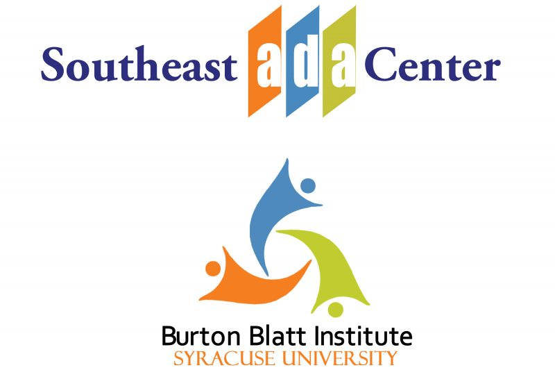 Southeast ADA Center and Burton Blatt Institute Logos