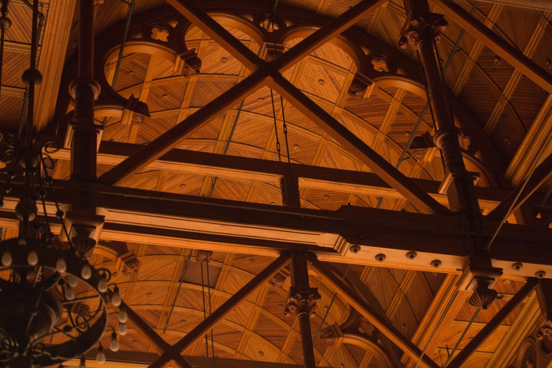 Setnor auditorium ceiling.