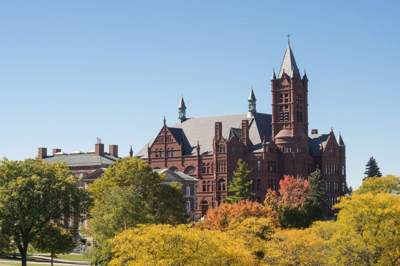 Crouse College during the autumn.
