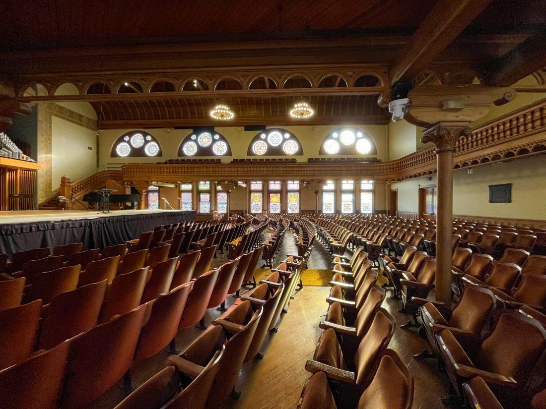 Setnor Auditorium in Crouse College.