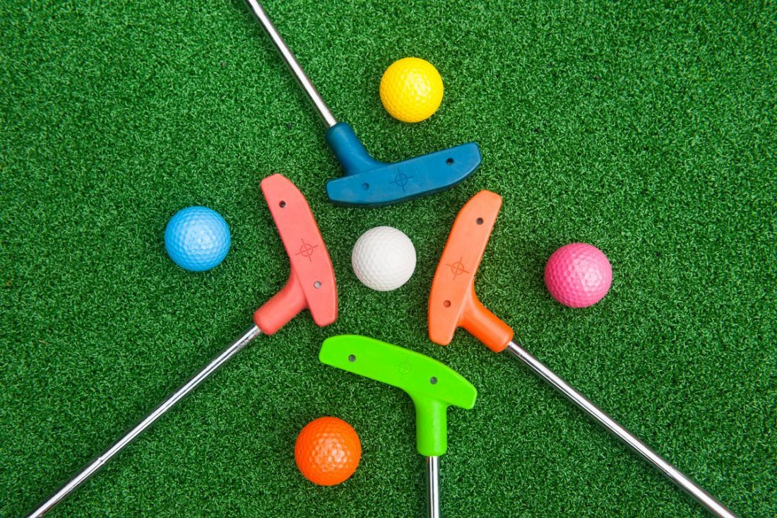 Mini Golf Putters and Golf Balls