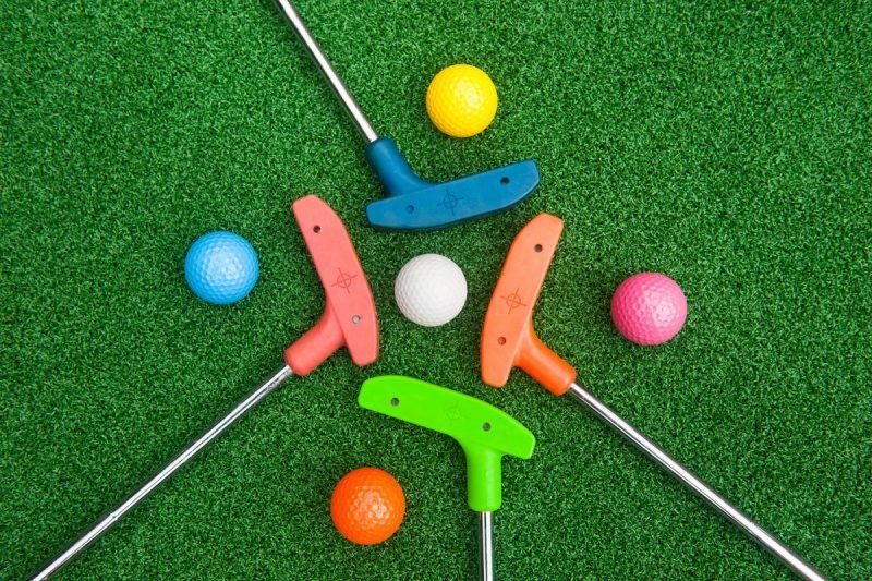 Mini Golf Putters and Golf Balls