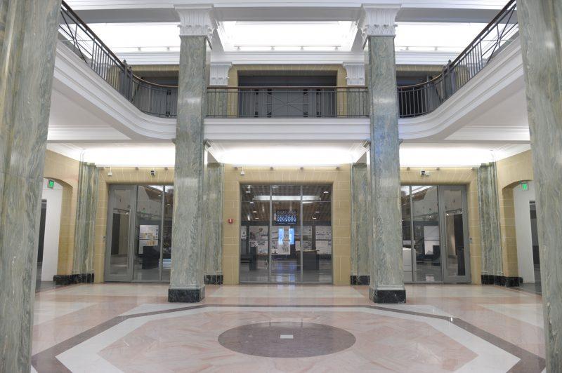 Slocum Hall's marble atrium