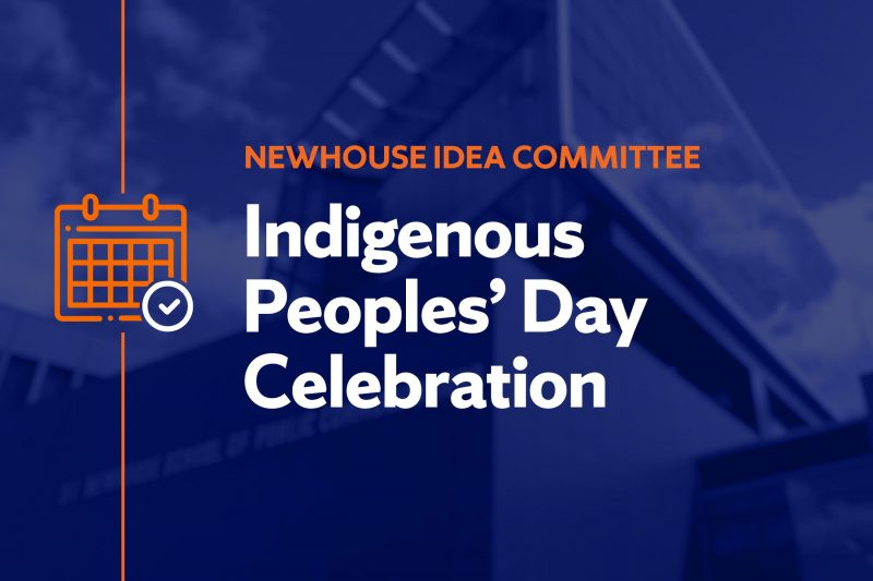 Newhouse IDEA Committee presents Indigenous Peoples' Day celebration