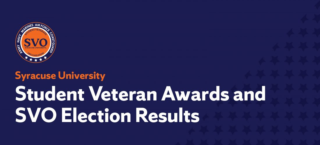 Student Veteran Awards and SVO Elections Results