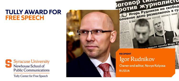 2021 Tully Award Igor Rudnikov